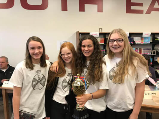 Girls with CASL trophy