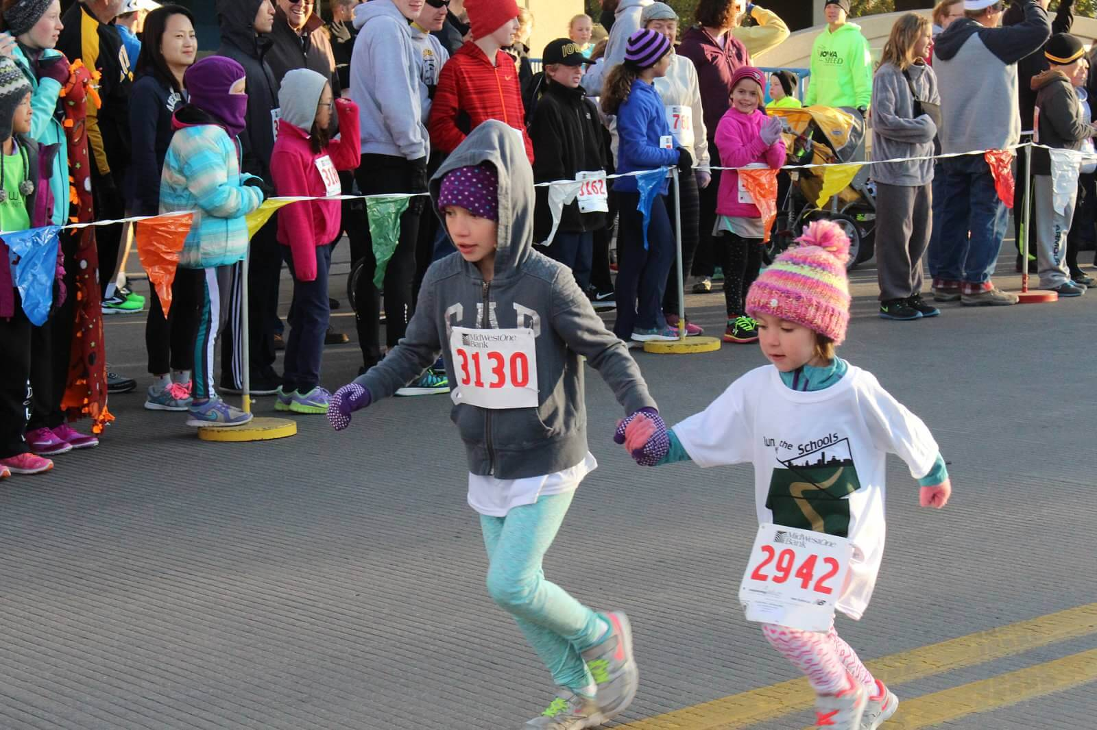 Two young runners
