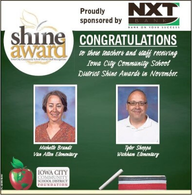 November Shine Award ad